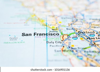 San Francisco On USA Map Stock Photo (Edit Now) 1067130116 ...