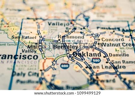 San Francisco On USA Map Stock Photo (Edit Now) 1099499129 ...