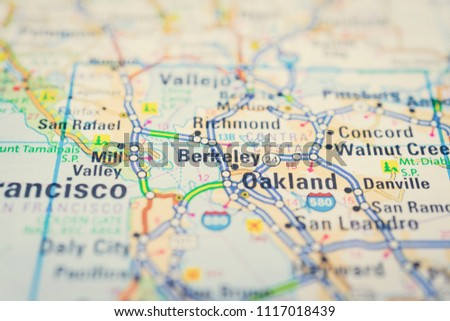 San Francisco On USA Map Stock Photo (Edit Now) 1117018439 ...
