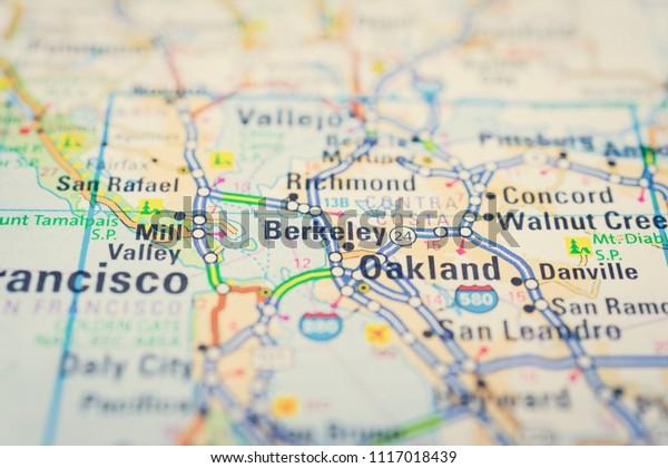 San Francisco On Usa Map Stock Photo (Edit Now) 1117018439