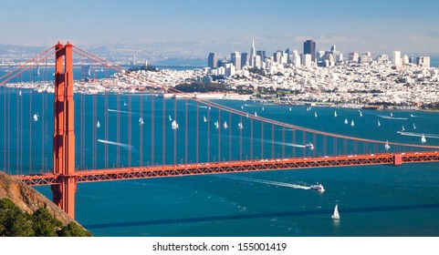 San Francisco Panorama and Golden Gate Bridge