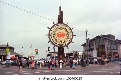 SAN FRANCISCO - SEPTEMBER 20: Famous Fisherman's Wharf sign on September 20, 2007 in San Francisco, California. The area's tourist attractions draw approximately 12 million visitors a year.