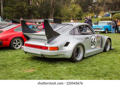 SAN FRANCISCO - SEPTEMBER 29: A Porsche 935 racing car is on display during the 2012 Jimmy's Old Car Picnic in Golden Gate Park in San Francisco on September 29, 2012