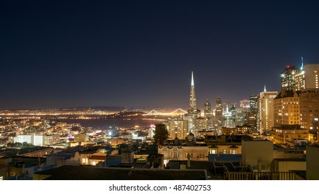 san francisco skyline from nob hill