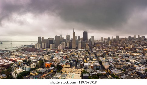 San Francisco skyline panorama from above