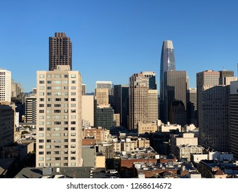 San Francisco skyline sunny winter day