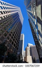 San Francisco - Skyscrapers, Financial district, San Francisco, USA, December 5, 2017
