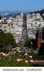 San Francisco street view from Lombard street