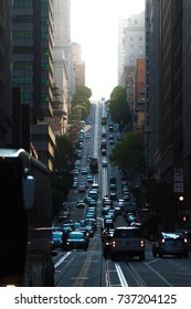 San Francisco streets with cable cars