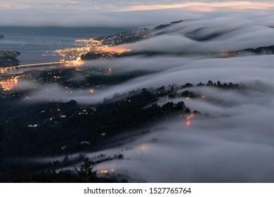 San Francisco summer evening fog