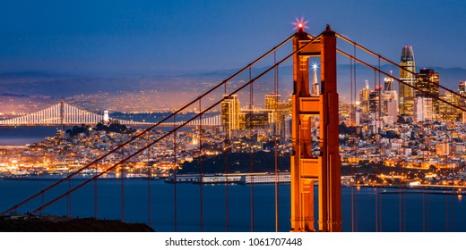 San Francisco - Transamerica Through Golden Gate