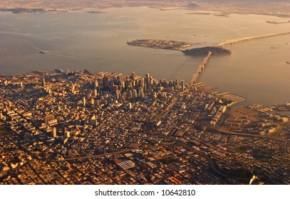 San Francisco and Treasure Island Aerial View