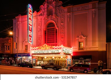 SAN FRANCISCO, UNITED STATES - APRIL 3: Castro Theater in Castro street, San Francisco, California, United States on April 3, 2013. The Castro Theater is a popular San Francisco movie palace.