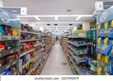 SAN FRANCISCO, UNITED STATES - JAN 14, 2018: Interior view of Walgreens store. The Walgreen Company is an American pharmaceutical company which operates the second-largest chain in the USA.