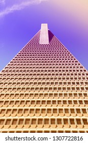 SAN FRANCISCO, USA - APRIL 9, 2014: Transamerica Pyramid skyscraper in San Francisco, USA. It is the tallest building in San Francisco with height of 853 ft (260 m).