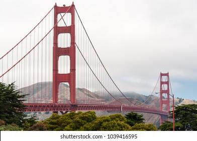 SAN FRANCISCO, USA - AUG 23, 2011 Golden Gate Bridge, the famous bridge between San Francisco Bay and the Pacific Ocean, San Francisco, California, USA
