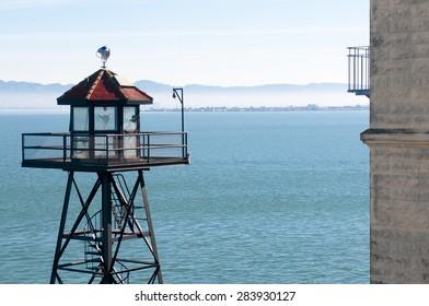 SAN FRANCISCO, USA - February 15: The Alcatraz Island Prison on February 15, 2015 in San Francisco, California.