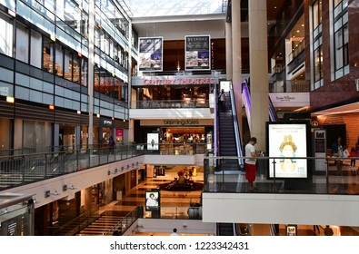 San Francisco; USA - july 13 2016 : shopping centre in the city center