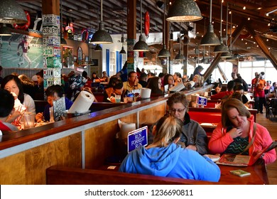 San Francisco; USA - july 13 2016 : restaurant in the fishermans wharf district