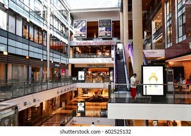 San Francisco; USA - july 13 2016 : Westfield shopping center