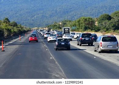San Francisco; USA - july 14 2016 : the US 101 road between San Francisco and Monterey
