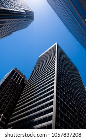 San Francisco, USA - June 23, 2015: Skyscraper view in sunny day