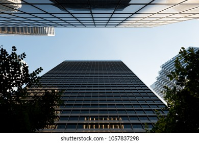 San Francisco, USA - June 27, 2015: Skyscraper view in sunny day