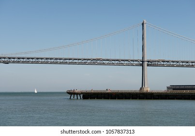 San Francisco, USA - June 27, 2015: View of the San Franciscoâ??Oakland Bay Bridge from San Francisco