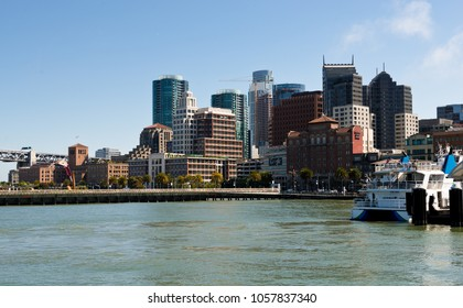 San Francisco, USA - June 27, 2015: San Francisco downtown in a midday