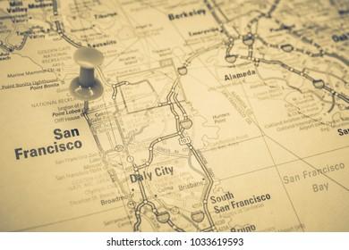 San Francisco. USA map