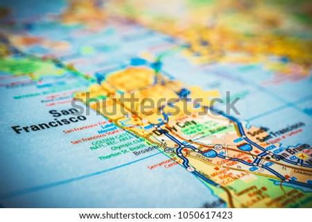 San Francisco USA Map Stock Photo (Edit Now) 1050617423 ...