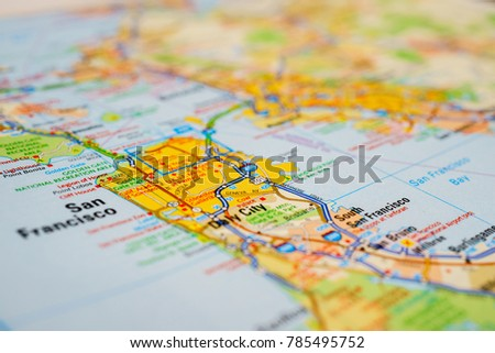 San Francisco USA Map Stock Photo (Edit Now) 785495752 - Shutterstock