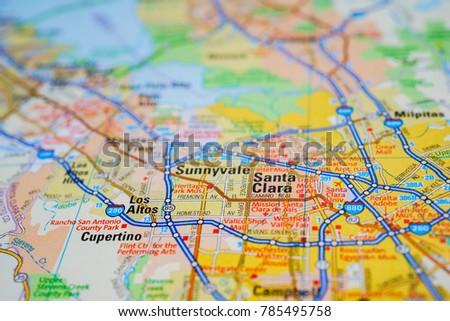 San Francisco USA Map Stock Photo (Edit Now) 785495758 ...