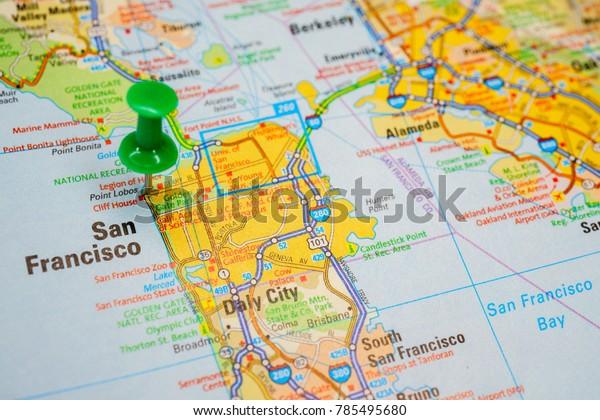 San Francisco Usa Map Stock Photo (Edit Now) 785495680