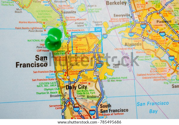San Francisco Usa Map Stock Photo (Edit Now) 785495686