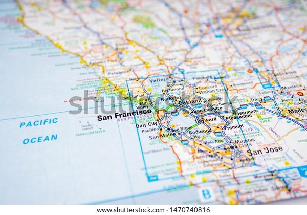 San Francisco Usa Map Atlas Travel Stock Photo (Edit Now ...