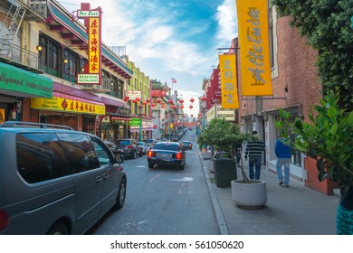 SAN FRANCISCO, USA - MAY 4, 2014: Chinatown district in San Francisco