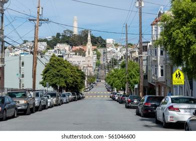 SAN FRANCISCO, USA - MAY 5, 2014: San Francisco street view