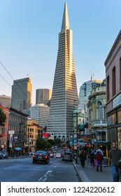 San Francisco, USA - November 6, 2015: Transamerica Pyramid in San Francisco
