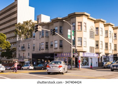 SAN FRANCISCO, USA - OCT 5, 2015: Powell street in San Francisco. San Francisco is the cultural, commercial, and financial center of Northern California