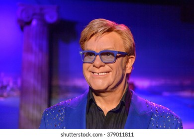SAN FRANCISCO, USA - OCT 5, 2015: Elton John at the Madame Tussauds museum in SF. It was open on June 26, 2014