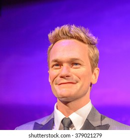 SAN FRANCISCO, USA - OCT 5, 2015: Niel Patrick Harris at the Madame Tussauds museum in SF. It was open on June 26, 2014