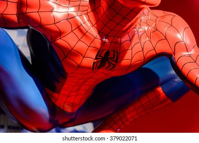 SAN FRANCISCO, USA - OCT 5, 2015: Spider Man at the Madame Tussauds museum in SF. It was open on June 26, 2014