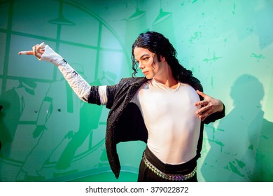 SAN FRANCISCO, USA - OCT 5, 2015: Michael Jackson at the Madame Tussauds museum in SF. It was open on June 26, 2014