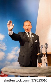 SAN FRANCISCO, USA - OCT 5, 2015: Martin Luther King JR. at the Madame Tussauds museum in SF. It was open on June 26, 2014