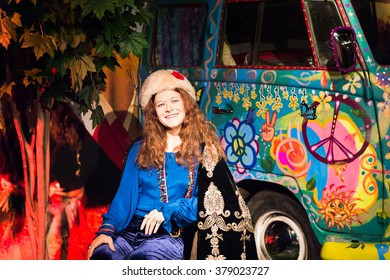 SAN FRANCISCO, USA - OCT 5, 2015: Janis Joplin at the Madame Tussauds museum in SF. It was open on June 26, 2014