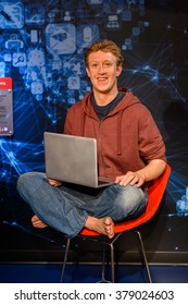 SAN FRANCISCO, USA - OCT 5, 2015: Mark Zuckerberg at the Madame Tussauds museum in SF. It was open on June 26, 2014