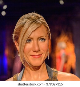 SAN FRANCISCO, USA - OCT 5, 2015: Jennifer Aniston at the Madame Tussauds museum in SF. It was open on June 26, 2014
