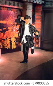 SAN FRANCISCO, USA - OCT 5, 2015: Jackie Chan at the Madame Tussauds museum in SF. It was open on June 26, 2014