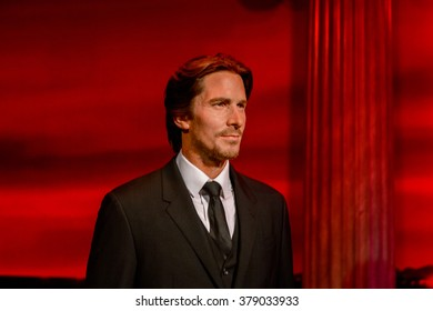 SAN FRANCISCO, USA - OCT 5, 2015: Christian Bale at the Madame Tussauds museum in SF. It was open on June 26, 2014